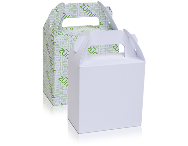 DIY Customizable Matte White Gable Box Favor Box