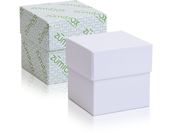 DIY Customizable Matte White Cube Gift Box Favor Box