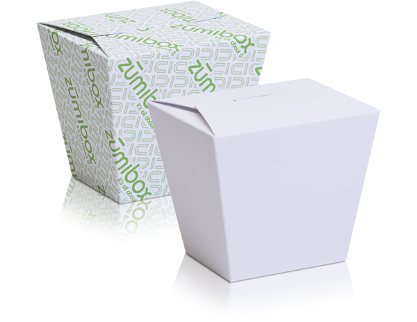 DIY Customizable Matte White Takeout Box Favor Box
