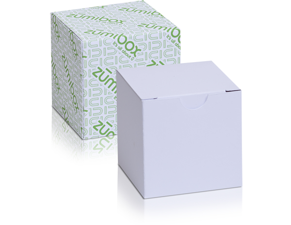 DIY Customizable Matte White Cube Box Favor Box